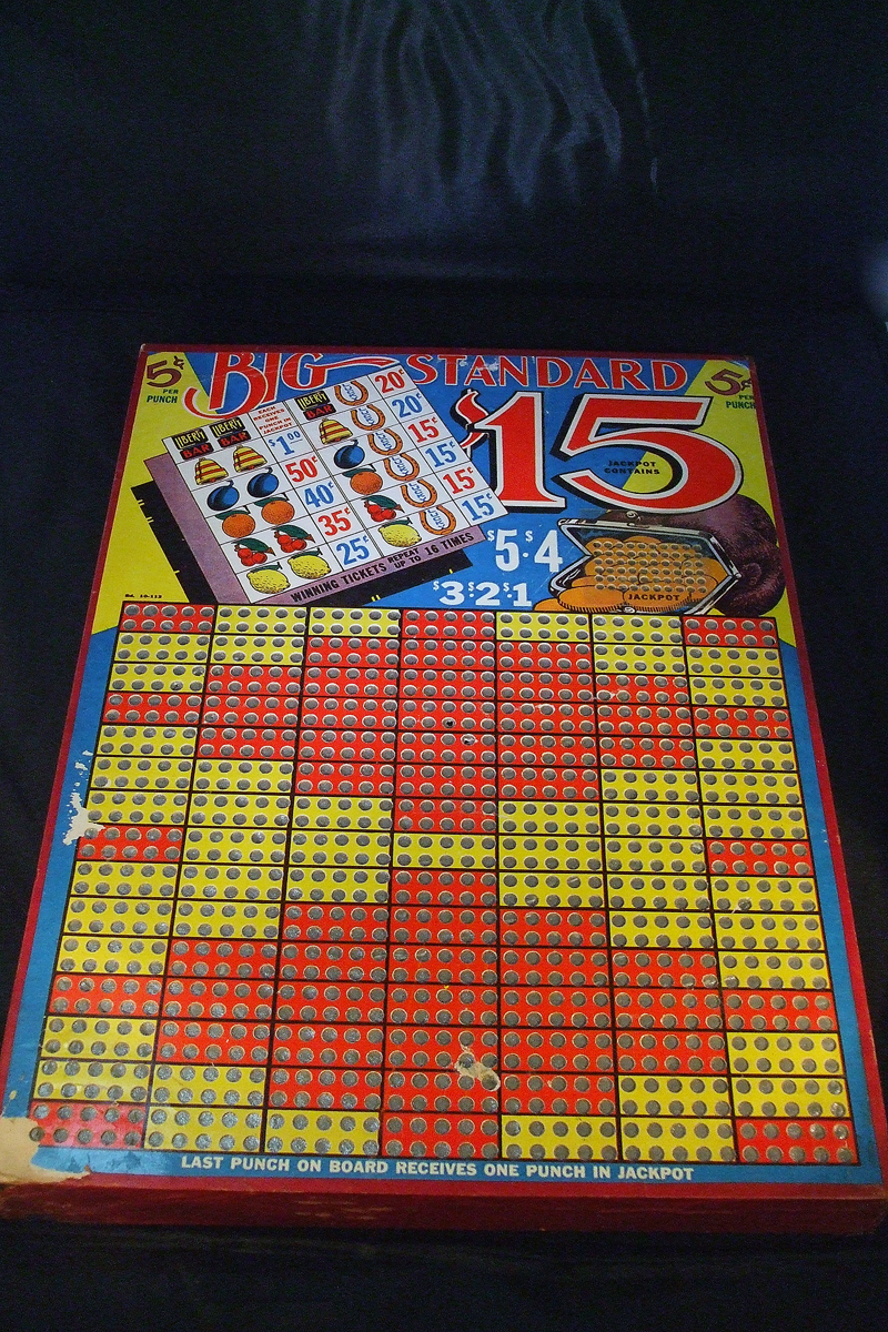 Vintage 1930's Punchboard General Store Lotto Game