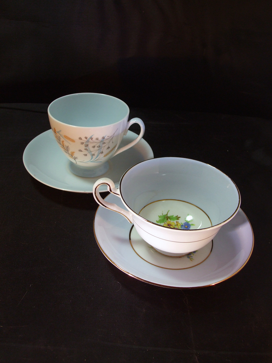 1950's Rosina and Queen Anne Tea Cups and Saucers