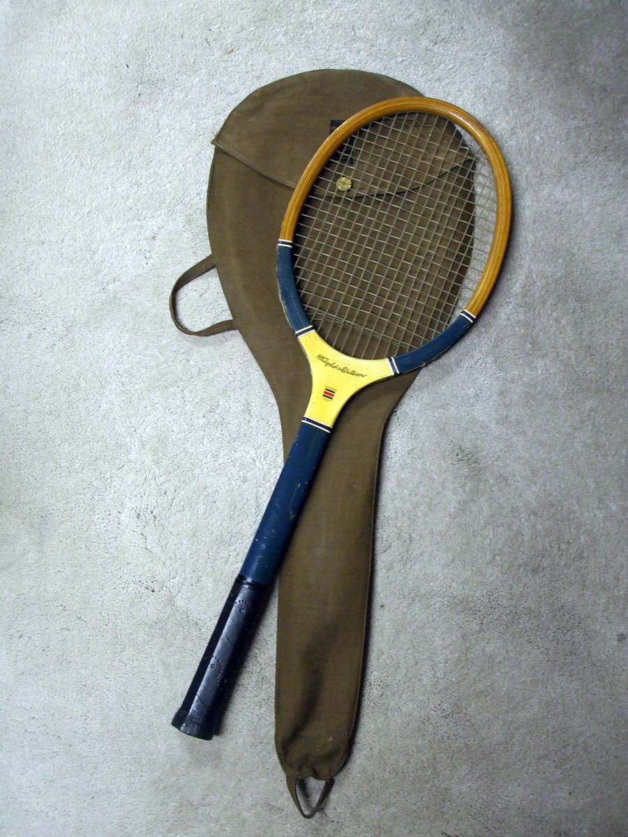1920's Wright and Ditson Olympian Tennis Racket in Original Carry Bag